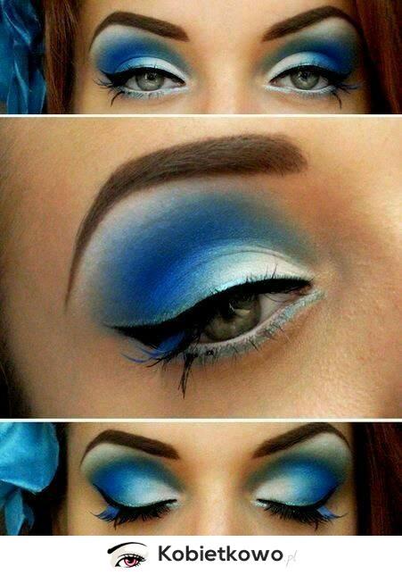 Zapomnij O Nudnym Makijażu Postaw Na Niebieskie Cienie Do Oczu